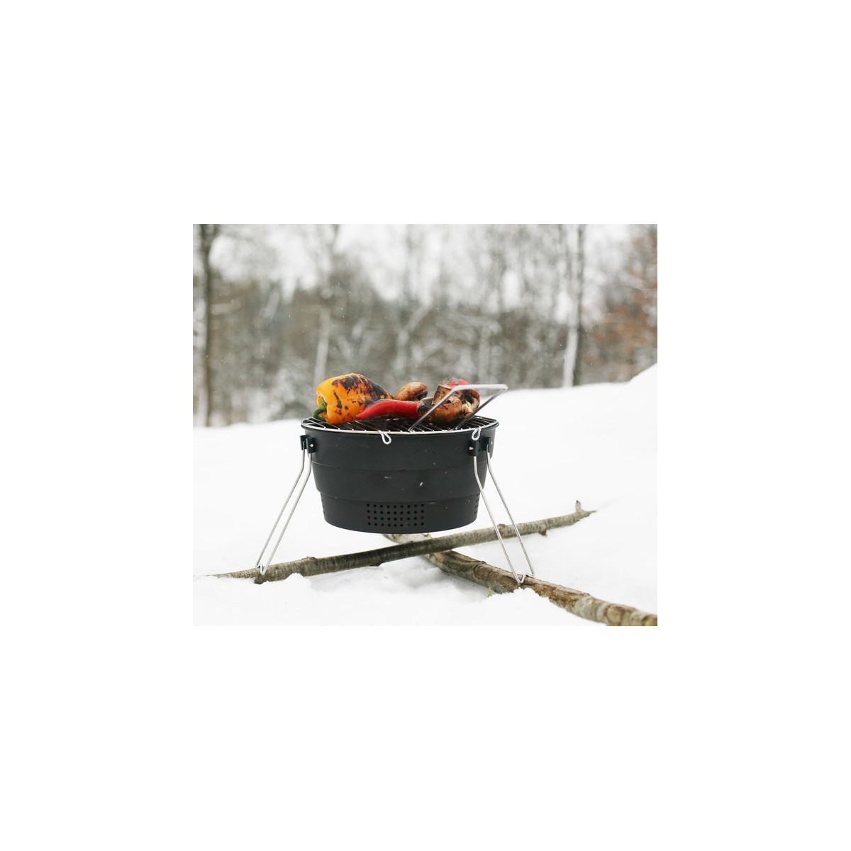 pop up grill barbecue pliable et portatif de bivouac bivouac camping inuka. Black Bedroom Furniture Sets. Home Design Ideas