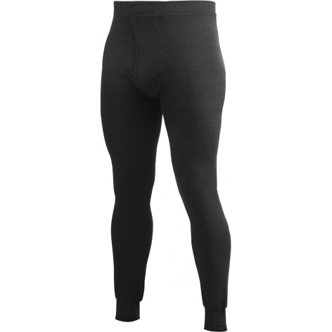 Caleçon Long Johns with Fly 200 WOOLPOWER Noir