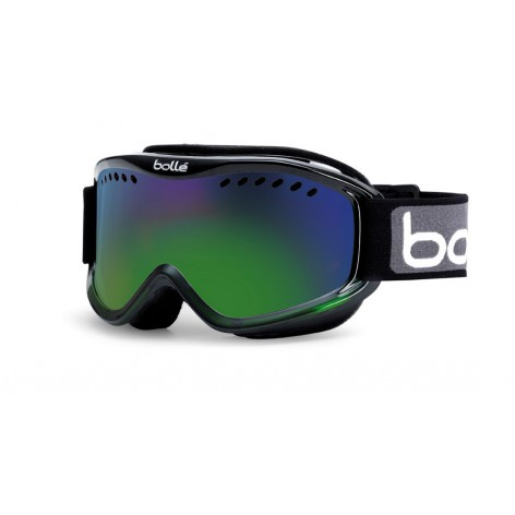 Masque de ski Carve Black Green Fade