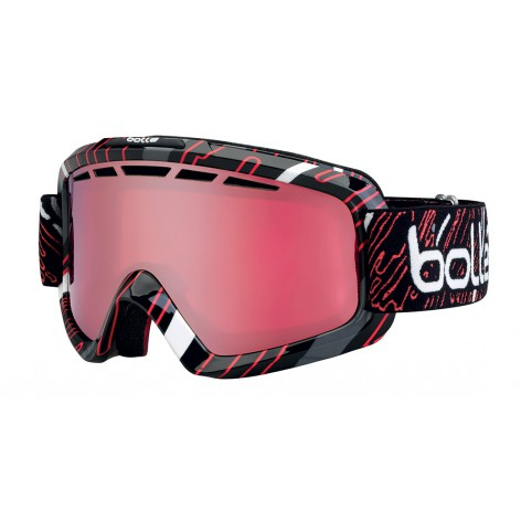 Masque de ski Nova II Shiny Black & Red