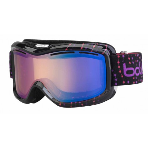 Masque de ski Monarch Black & Pink Beads