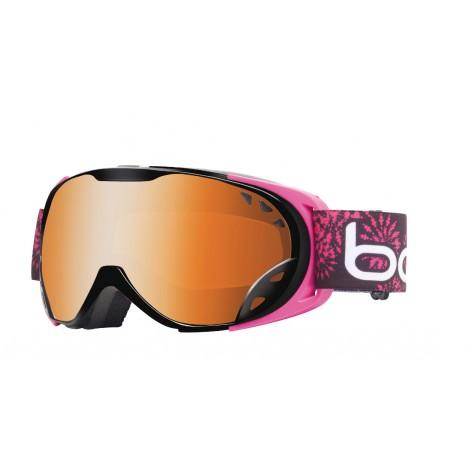 Masque de ski Duchess Black & Pink Flower Power