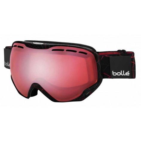 Masque de ski Emperor OTG Shiny Black & Red Loops