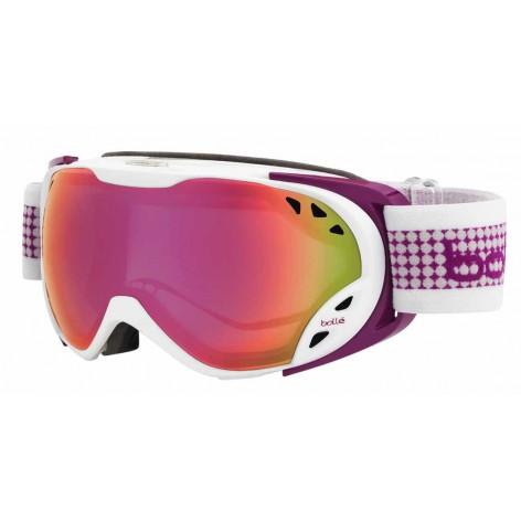 Masque de ski Duchess White & Plum