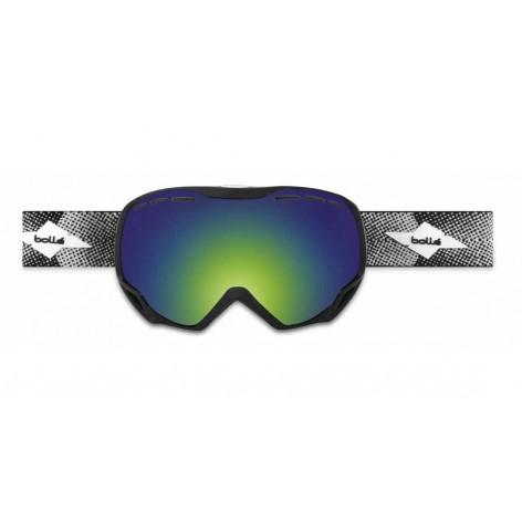 Masque de ski Emperor OTG Shiny Black Cross