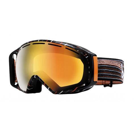 Masque de ski Gravity Grey & Orange Waves