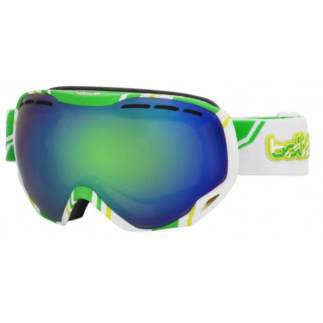 Masque de ski Emperor White & Lime
