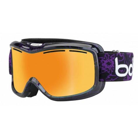 Masque de ski Monarch Black & Purple Flower