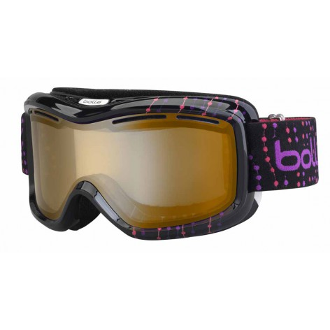 Masque de ski Monarch Black & Pink Beads