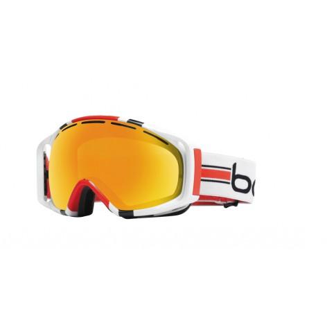 Masque de ski Gravity White & Orange Stripes