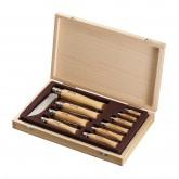 Coffret bois collection 10 couteaux inox