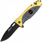 Couteau Alpino Doré/Noir