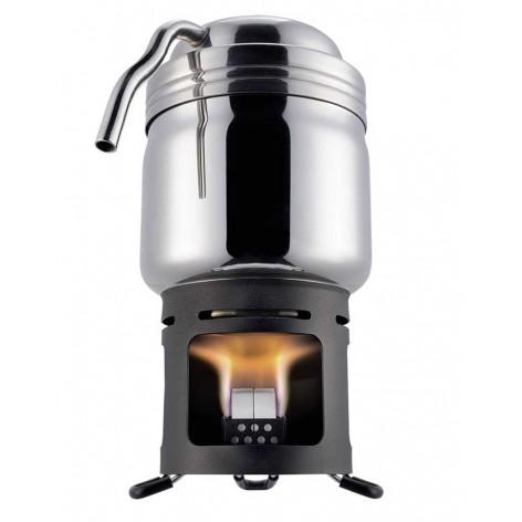 Machine à café de bivouac avec brûleur