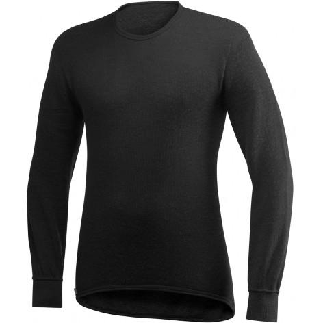 Tee shirt manches longues Crewneck 200 WOOLPOWER Noir