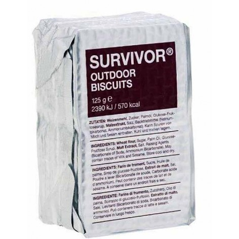 Survivor Outdoor Biscuits, biscuits secs énergétiques