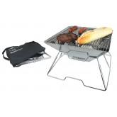 Barbecue pliant plat