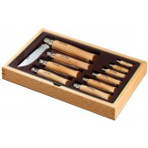 Ramasse-monnaie bois 10 couteaux inox OPINEL