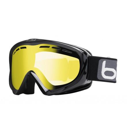 Masque de ski Y6 OTG Shiny Black