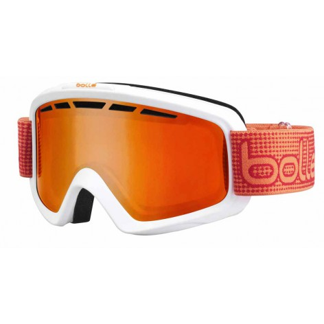 Masque de ski Nova II Matte White & Orange