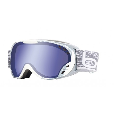 Masque de ski Duchess White & Silver Wings