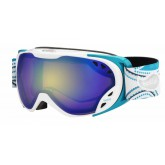 Masque de ski Duchess White & Blue Arabesque