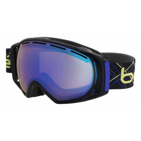 Masque de ski Gravity Black & Indigo Laser