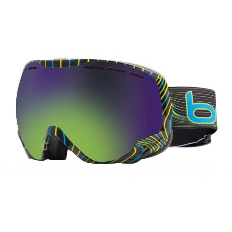 Masque de ski Emperor Blue & Green Waves