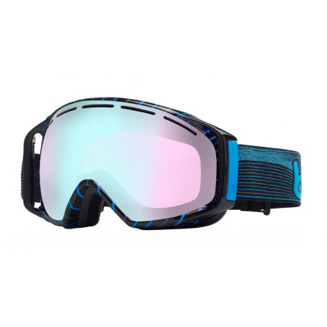 Masque de ski Gravity Black & Blue Waves