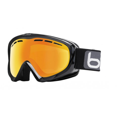Masque de ski Y6 OTG Shiny Black