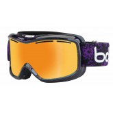 Masque de ski Monarch Black & Purple Flower