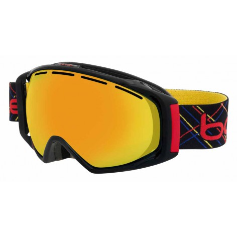 Masque de ski Gravity Black & Red Laser