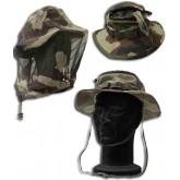 Chapeau de jungle avec moustiquaire
