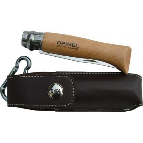 Couteau OPINEL N°8 avec étui cuir