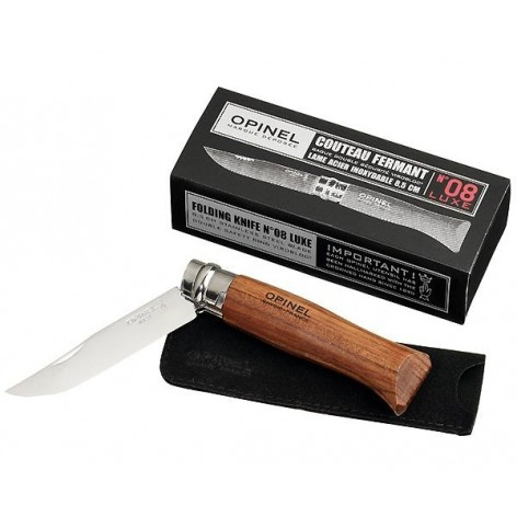 Couteau OPINEL n°8 luxe avec lame inox poli glace